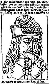Transylvanian Saxon engraving from 1462 depicting Vlad Țepeș