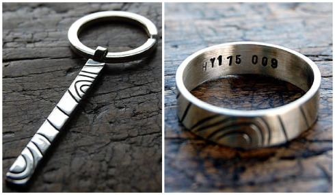 personalised-grid-reference-keyring-ring